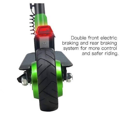 monopattino elettrico M MEGAWHEELS con luce posteriore a led