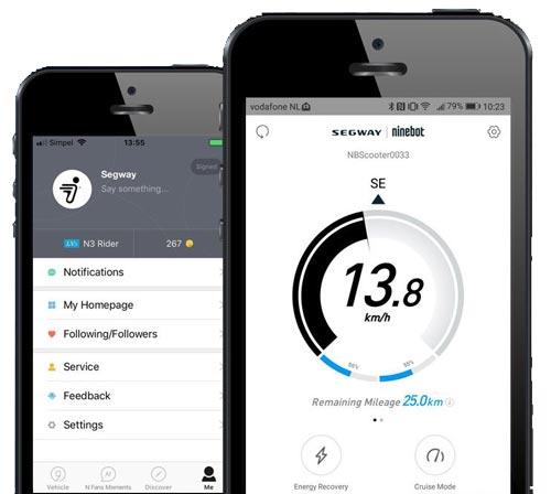 app per smartphone monopattino elettrico ninebot segway es1
