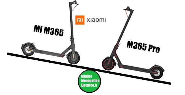 confronto monopattino elettrico xiaomi mi365 e m365 pro