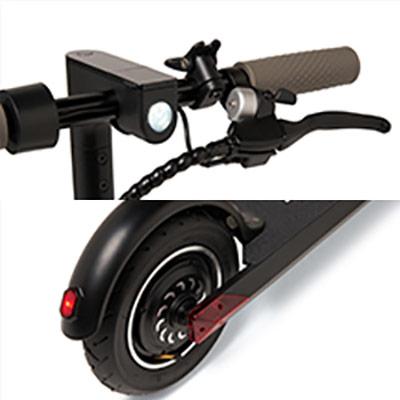 illuminazione monopattino elettrico i-bike mono truck