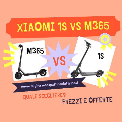 confronto xiaomi mi 1 s vs xiaomi mi m365