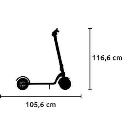 misure monopattino elettrico vivobike s3