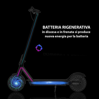 Monopattino elettrico con batteria rigenerativa hiboy s2
