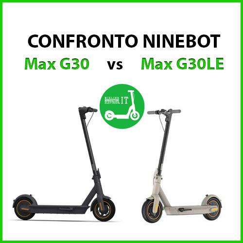 confronto ninebot max g30 e max g30le