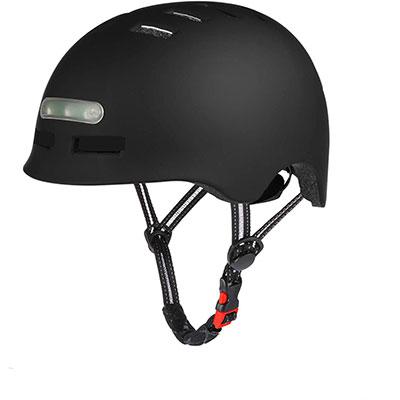 casco per monopattini elettrici con luce a led